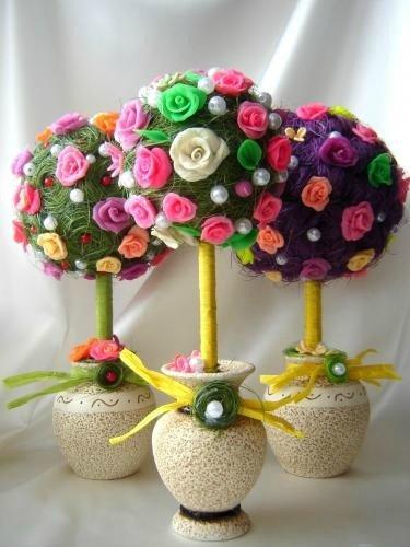 Поделка цветы дома