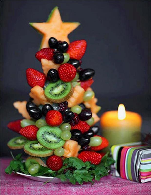Елка из фруктов своими руками фото