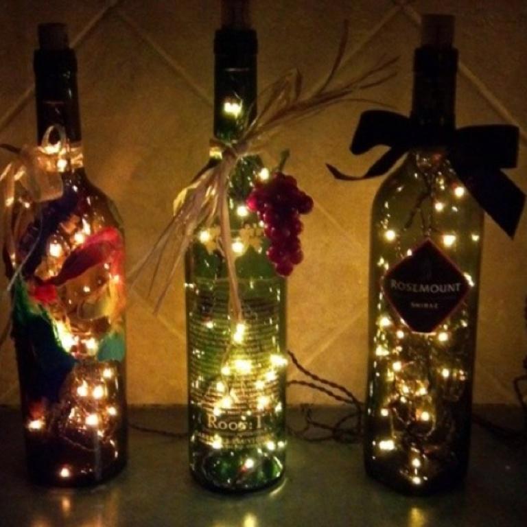 Новогодние украшения из бутылки своими руками