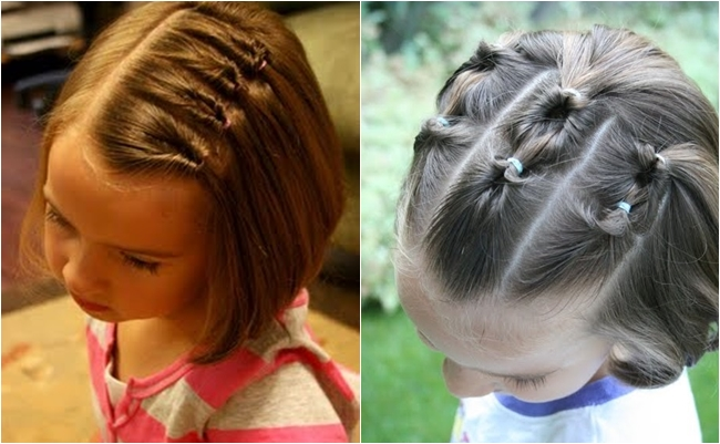 Причёски для девочек на короткие волосы своими руками 93