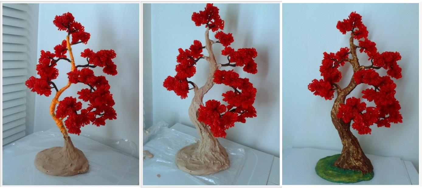 Дерево из бисера своими руками для начинающих пошагово с