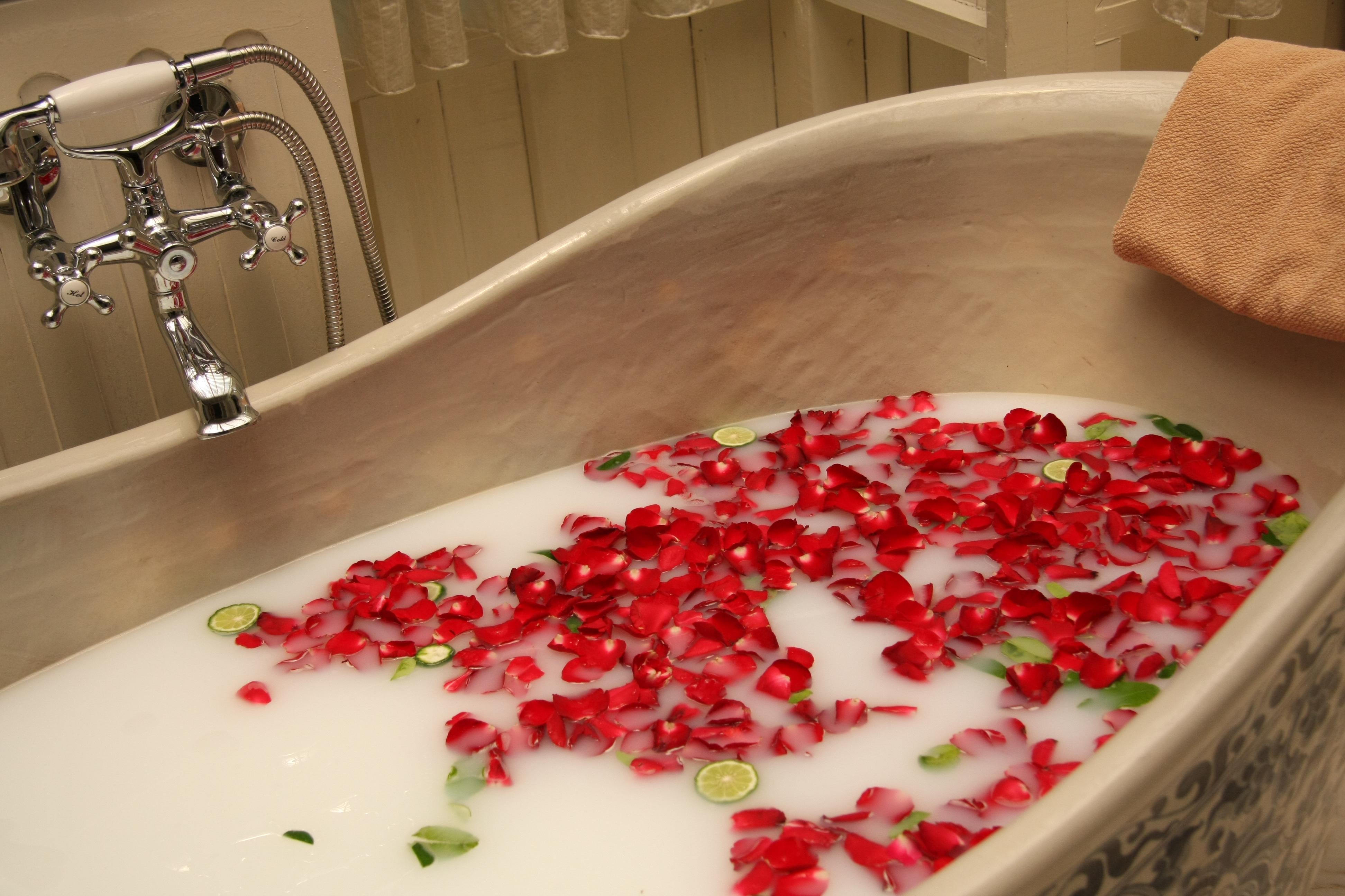Фото девушек в ванне с лепестками роз 14 фотография