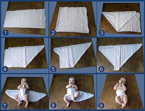 Как сделать пеленку для ребенка своими руками