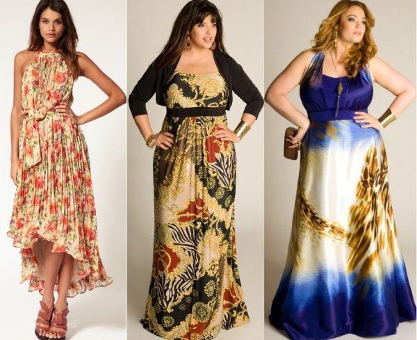 c5ac4a78305609e Платье цветное для полных летнее - Модадром