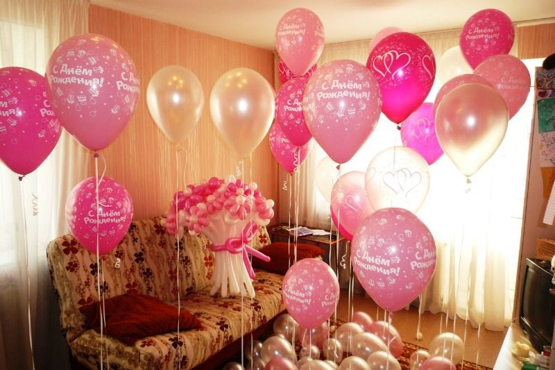 Украшение шарами на день рождения ребенка 1 год своими руками фото
