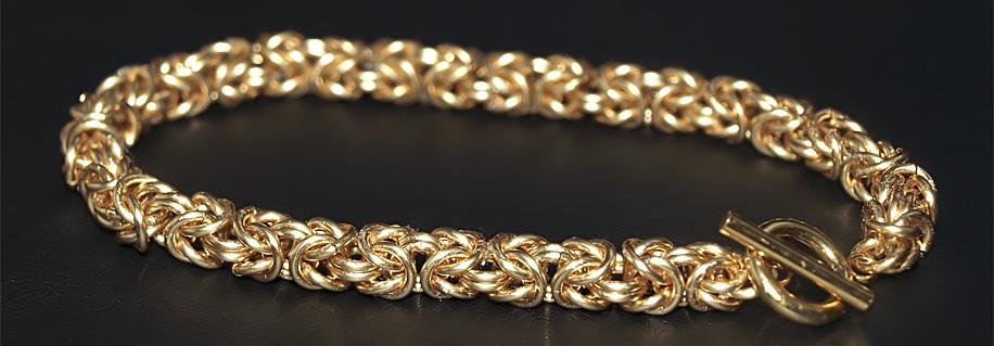 Виды плетения золотых браслетов мужских