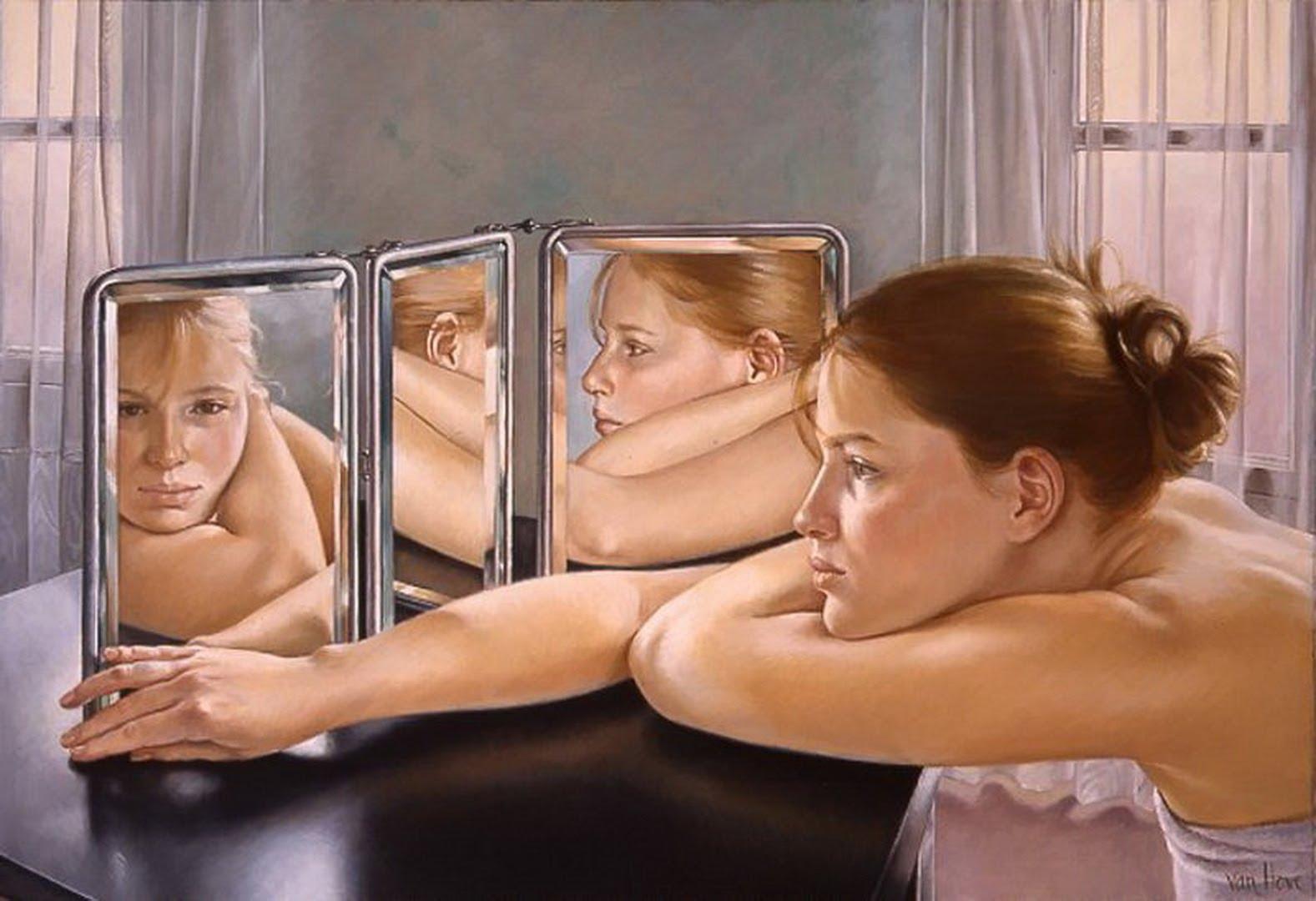 Что случится если стоять голой перед зеркалом 17 фотография