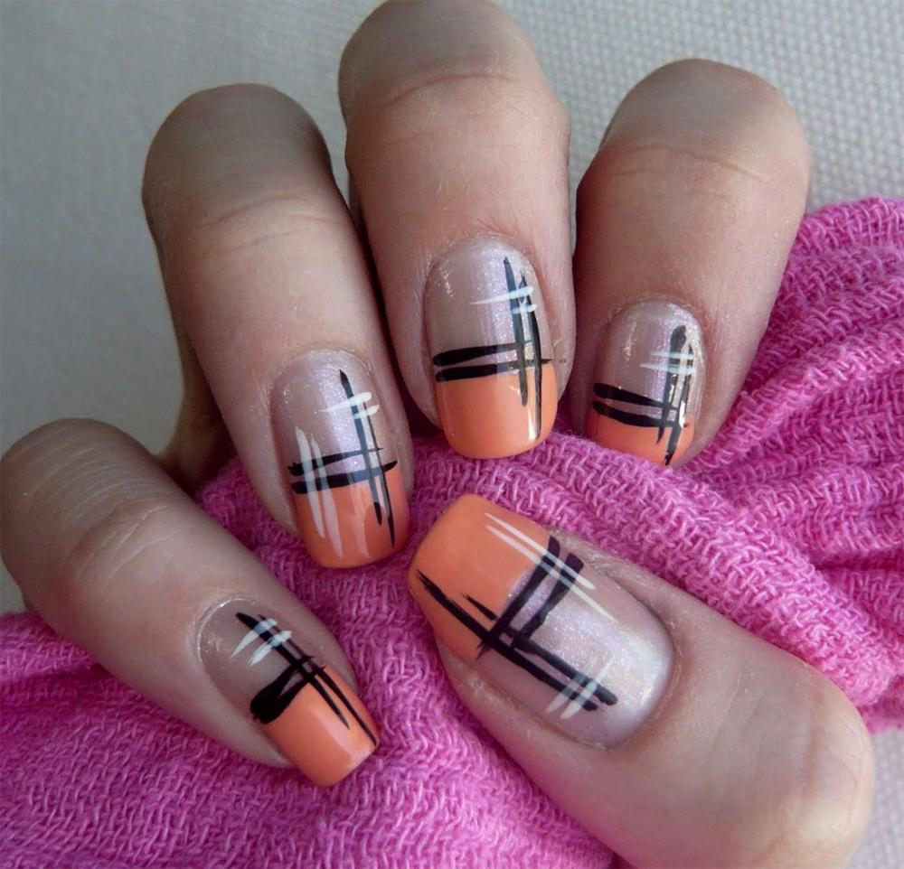 Фото разных цветов френча на ногтях