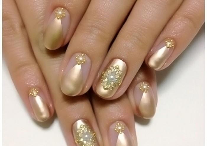 Дизайн ногтей с жёлтым цветом