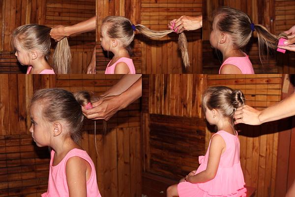 Как сделать ребенку пучок на гимнастику