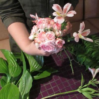Букет из цветов своими руками с фото