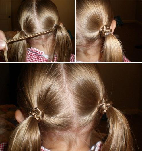 Простые причёски на каждый день в школу своими руками