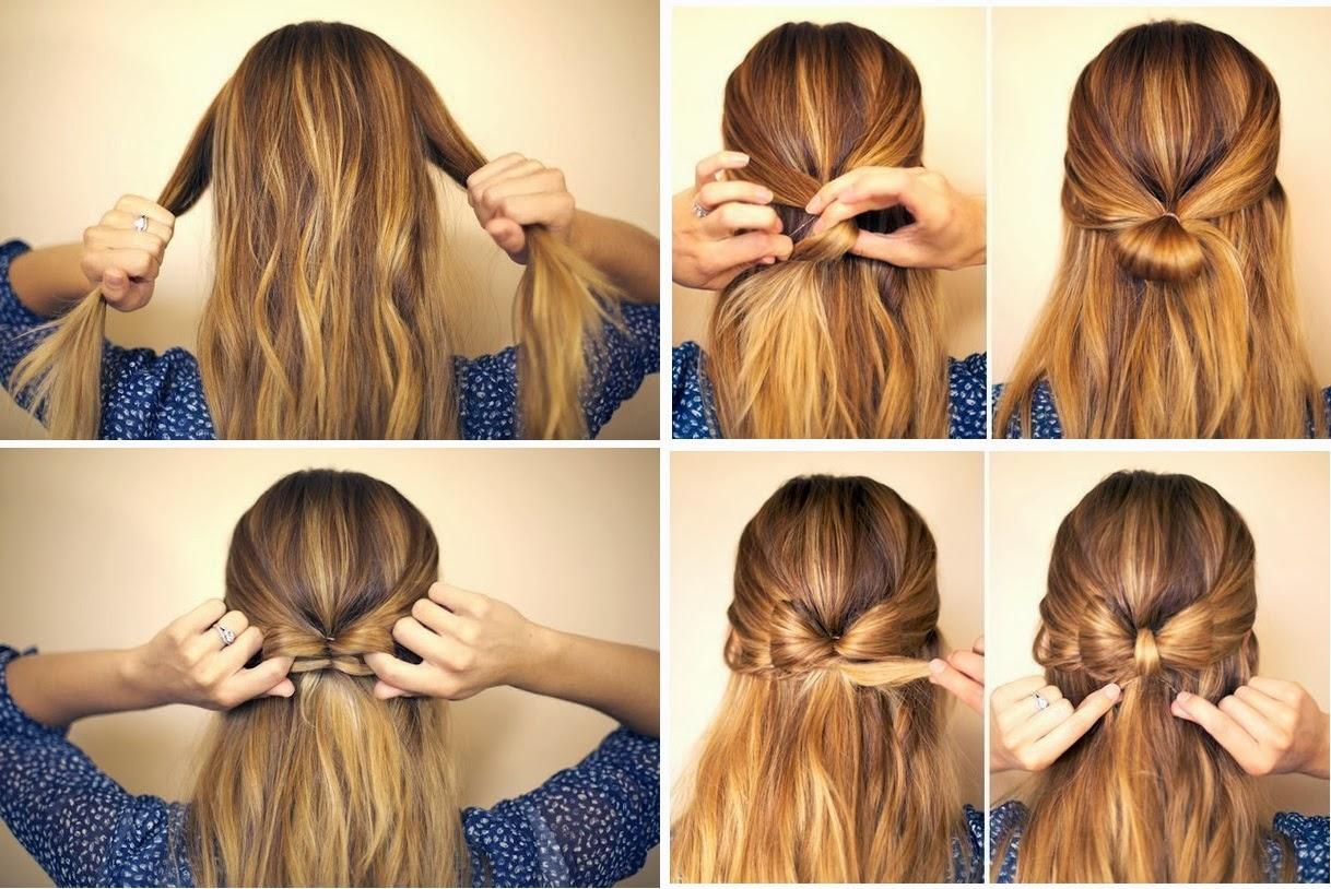 Праздничная причёска на короткие волосы своими руками видео