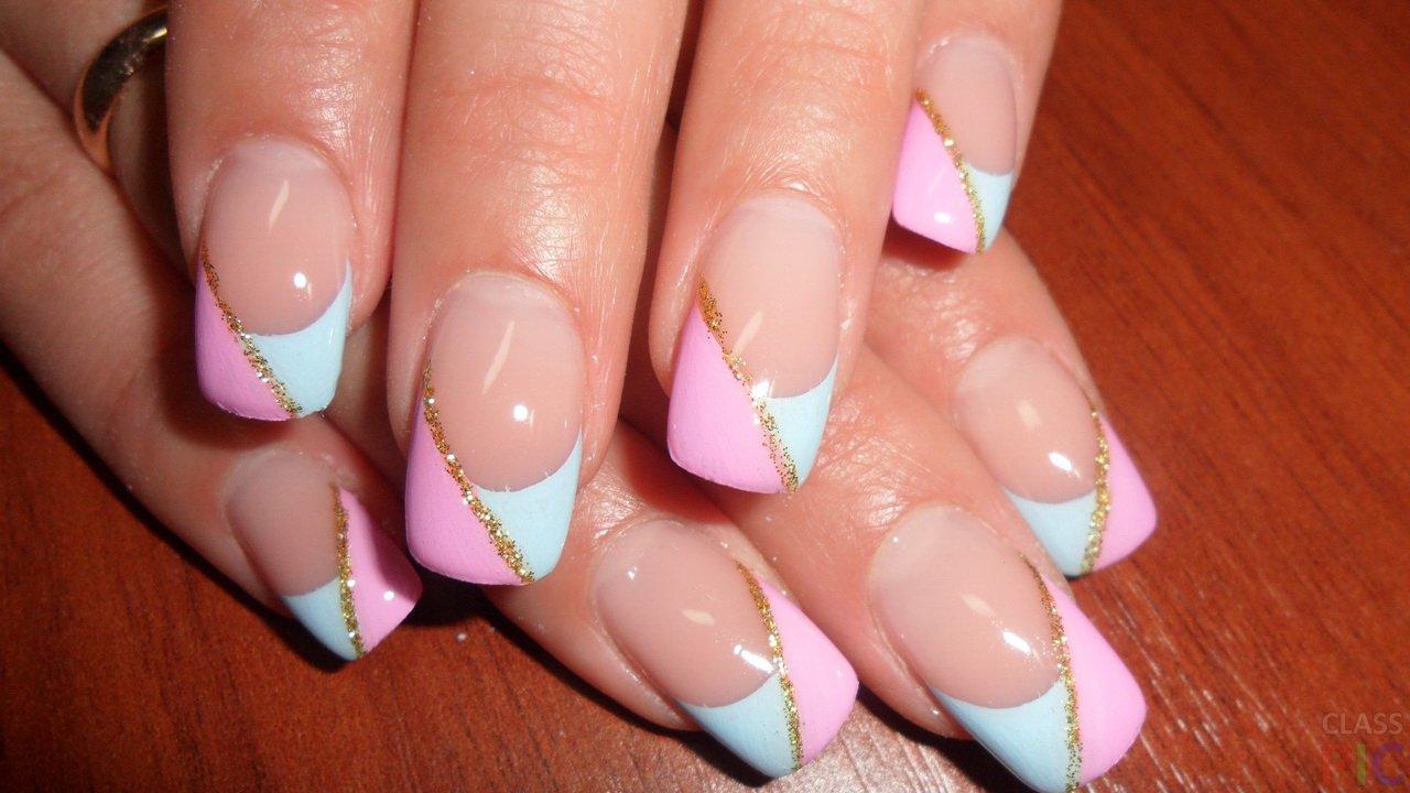 Рисунки на нарощенных ногтях дизайн