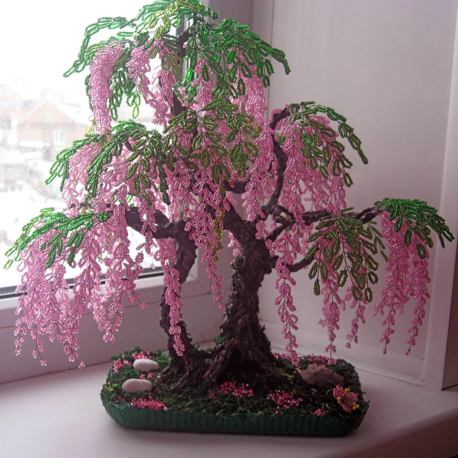 Дерево своими руками из бисера фото