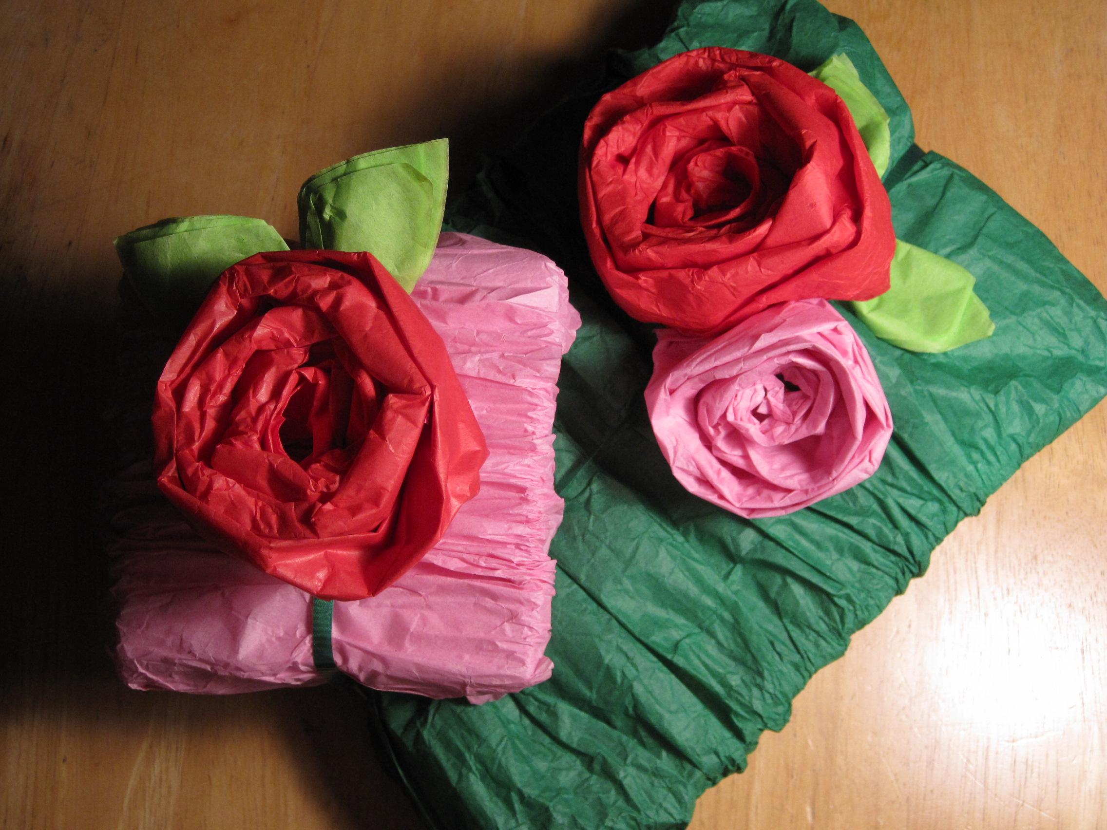 Упаковка цветов гофрированной бумагой своими руками