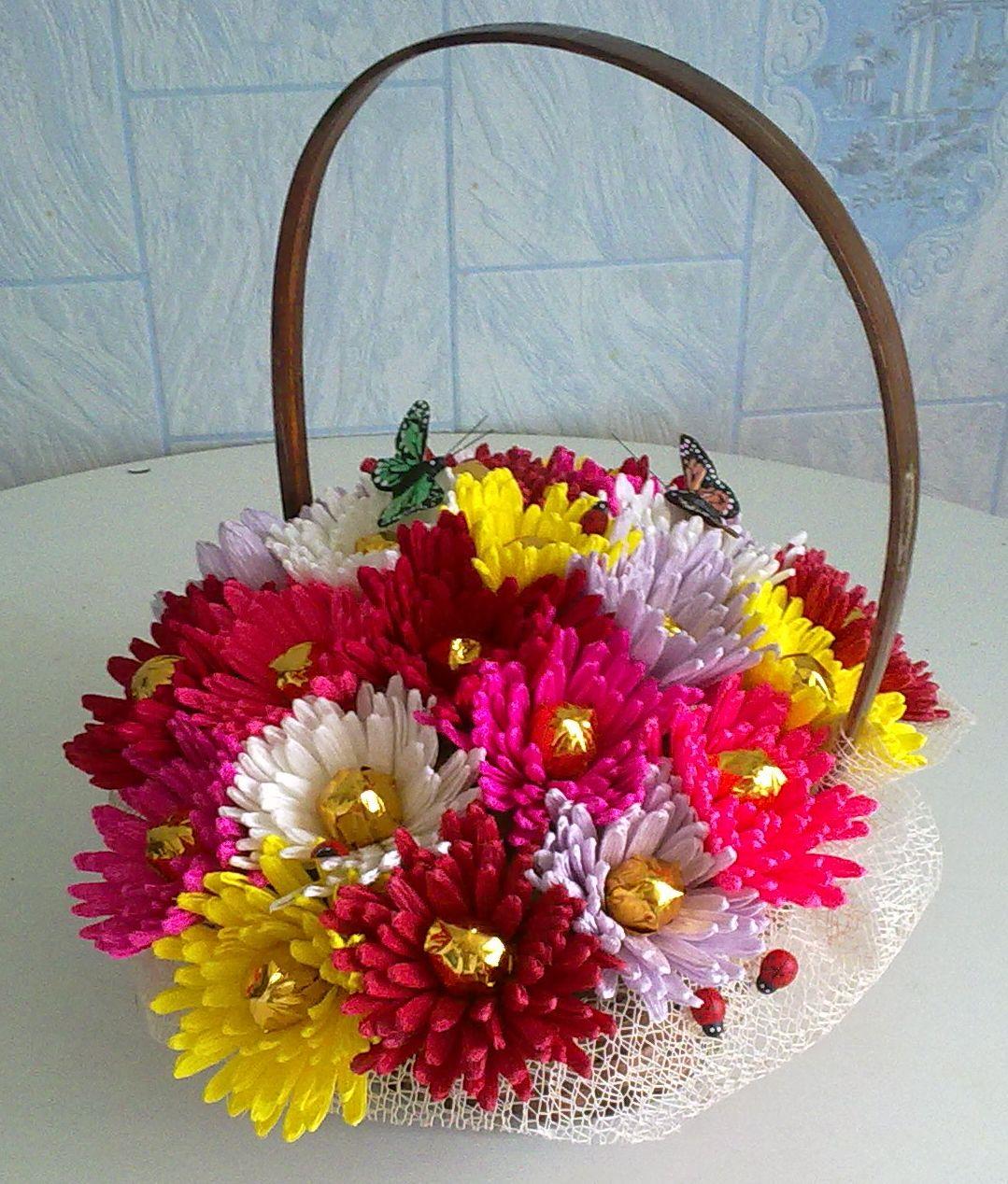 Букет из цветов своими руками на день рождения