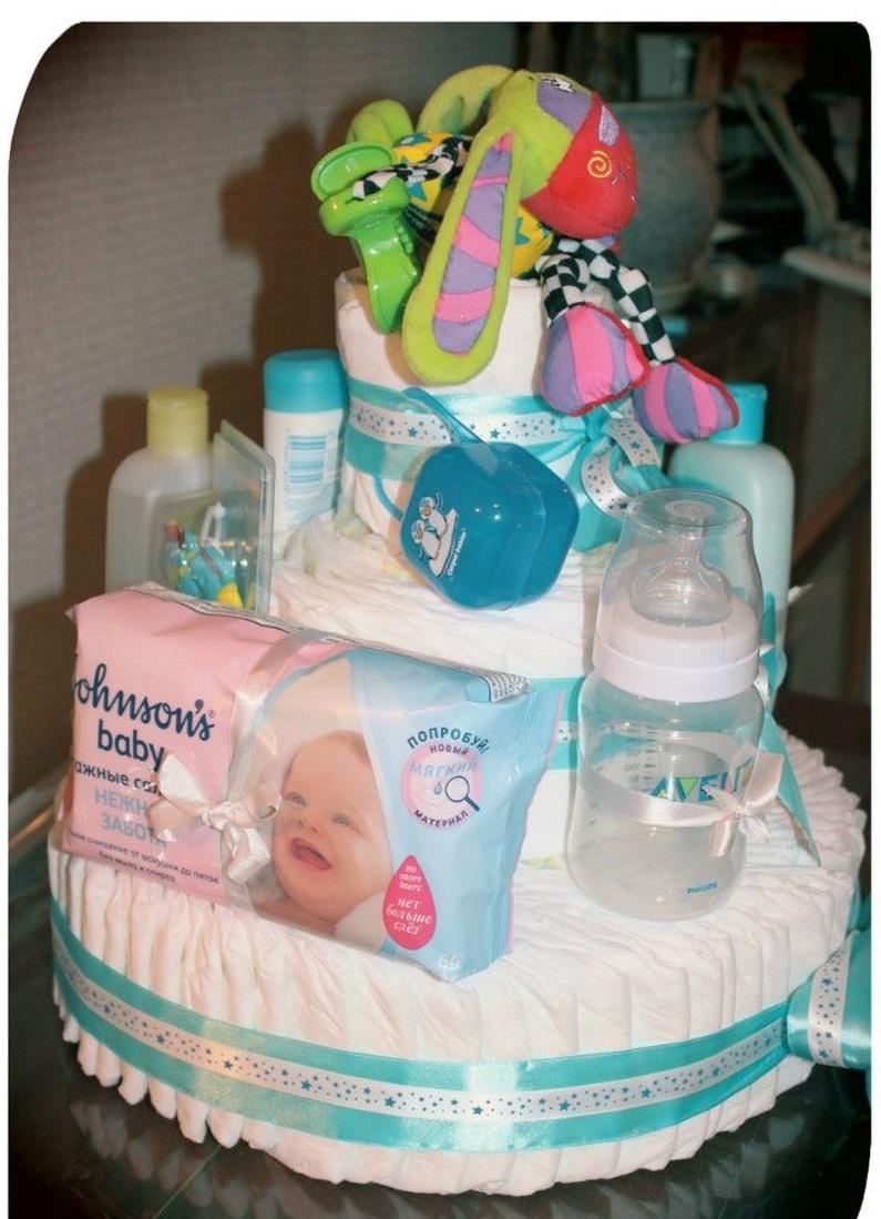 Тортик своими руками для новорожденных