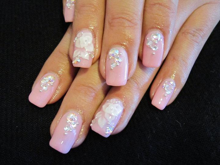 Ногтей дизайн свадебный розовый