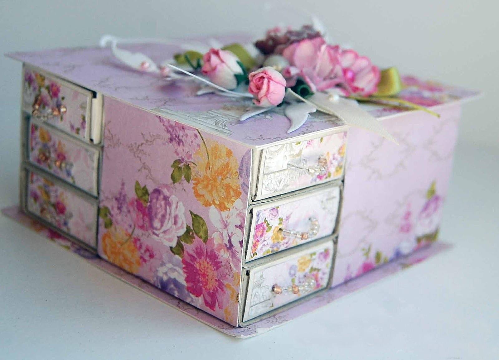 Красивые шкатулки из бумаги