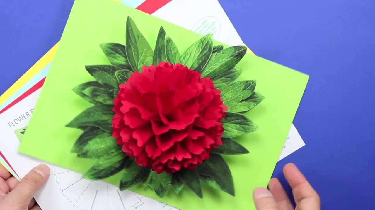 Открытка цветок своими руками из бумаги