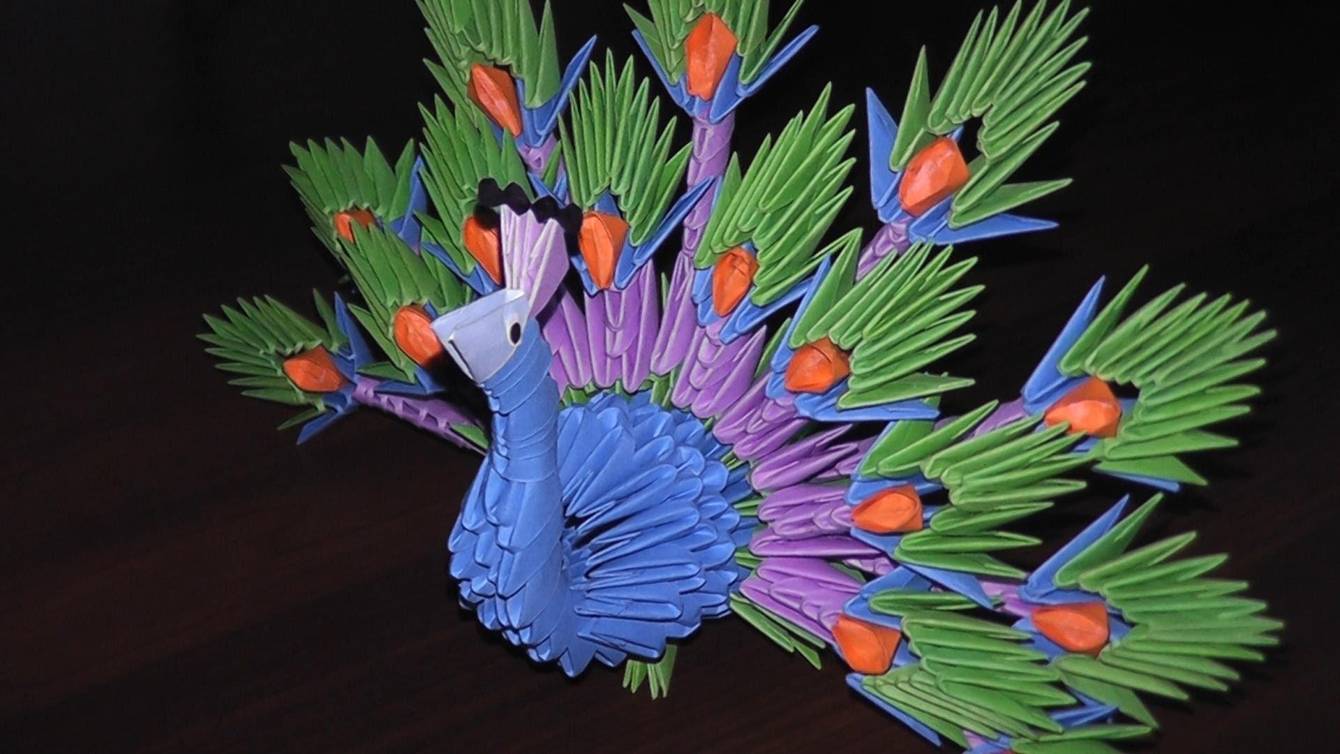 Модульные 3д оригами из бумаги