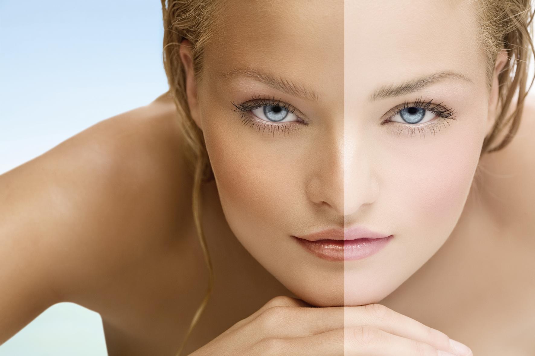 Как отбелить кожу лица в домашних условиях