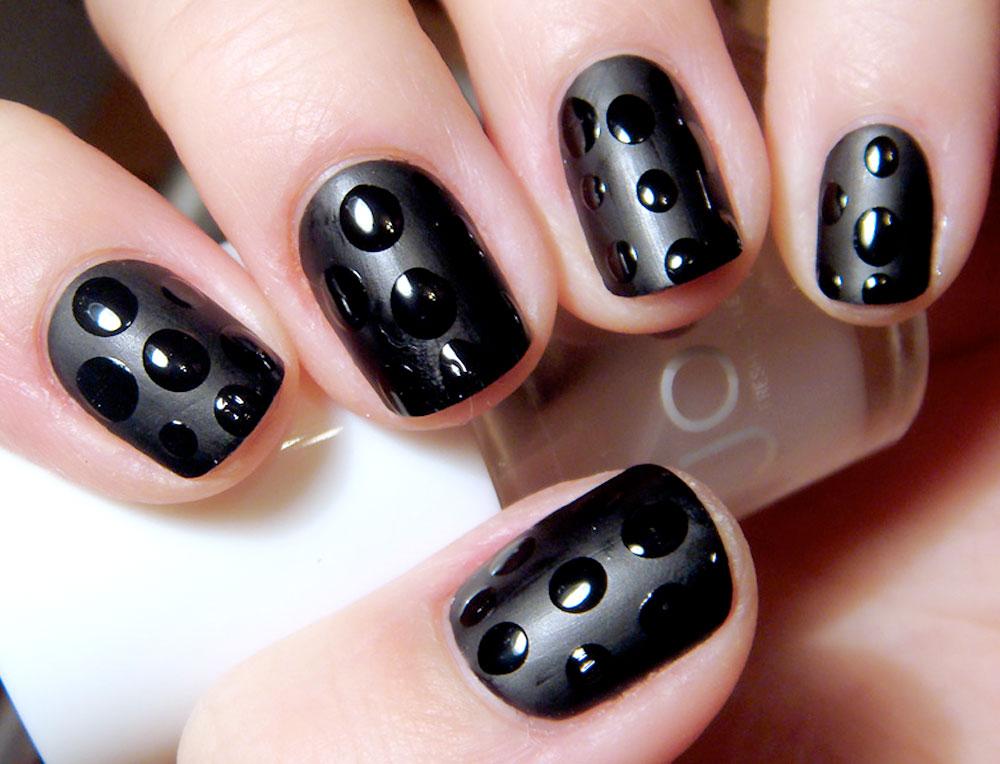 Дизайн ногтей черный матовый