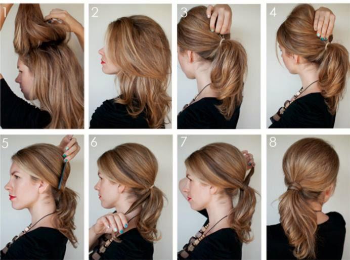 Прически на среднюю длину волос своими руками фото
