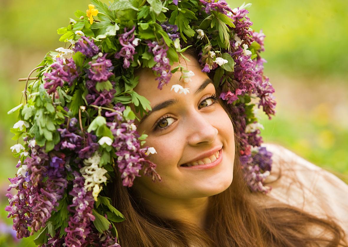 Фото русских девушек на русской природе 24 фотография