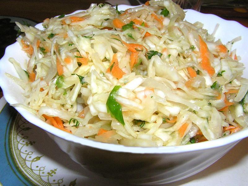 блюда салаты из капусты кольраби