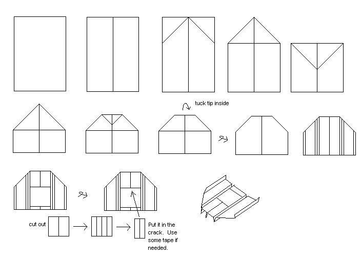 Как сделать самолёт бумеранг оригами
