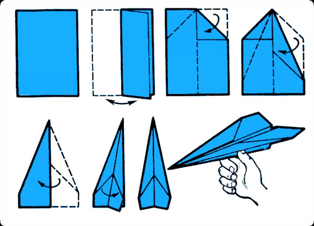 Как из бумаги сделать самолет стрела