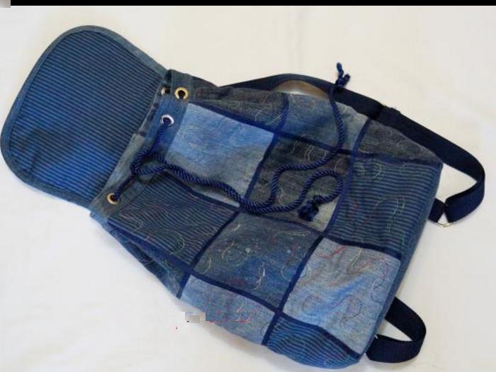 Рюкзаки из старых джинсов своими руками фото