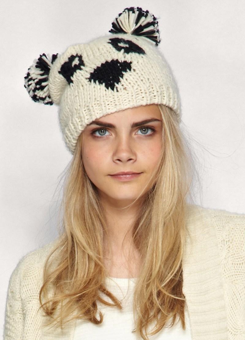 схема вязания спицами шапки девочке