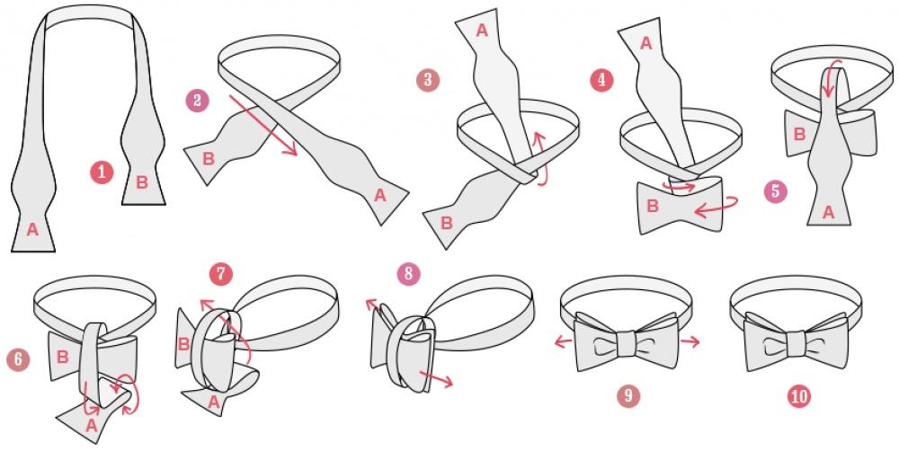 Как из ленты сделать бабочку на шею своими руками