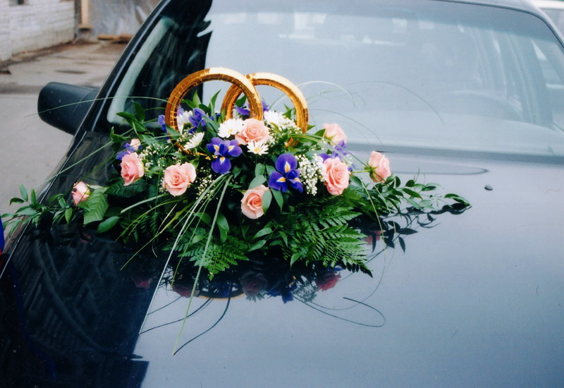 Цветы для свадебной машины своими руками