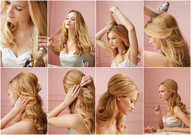 Как сделать самой прическу для длинных волос