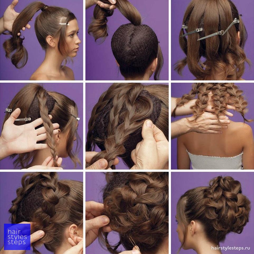 Легкие прически на средние волосы на свадьбу своими руками