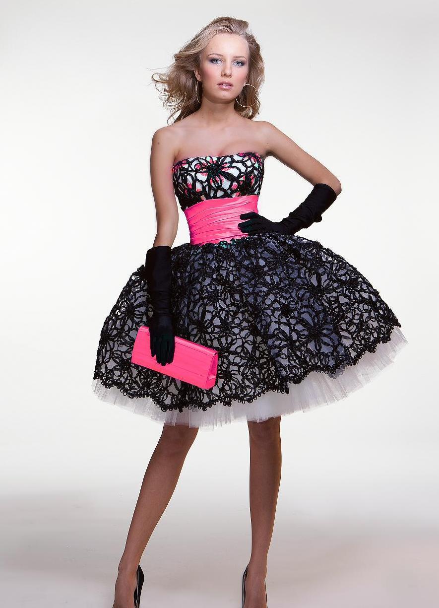 Как сшить платье короткое пышное
