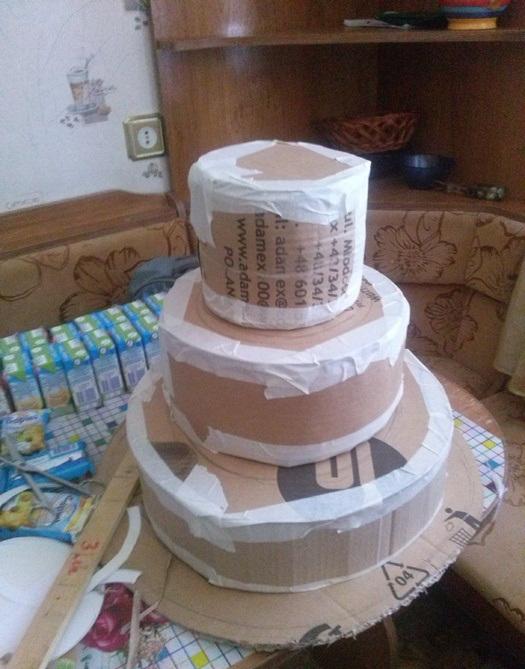 Как сделать торт в садик из сока и барни