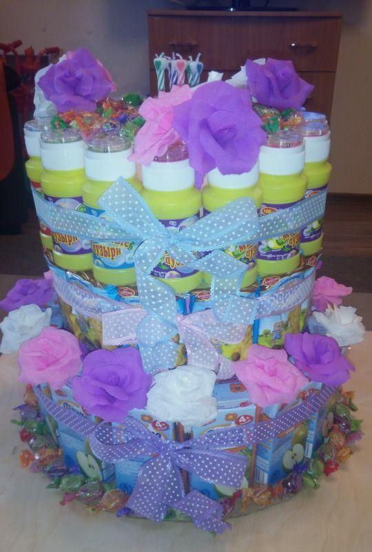 Как украсить торт для девочки на день рождения своими руками фото 972