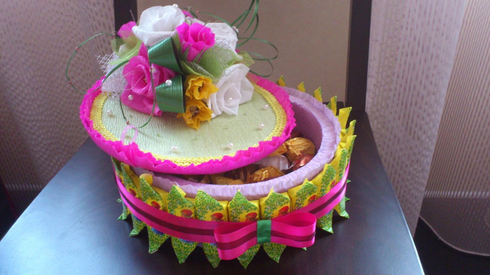 Торт поделка из шоколадок