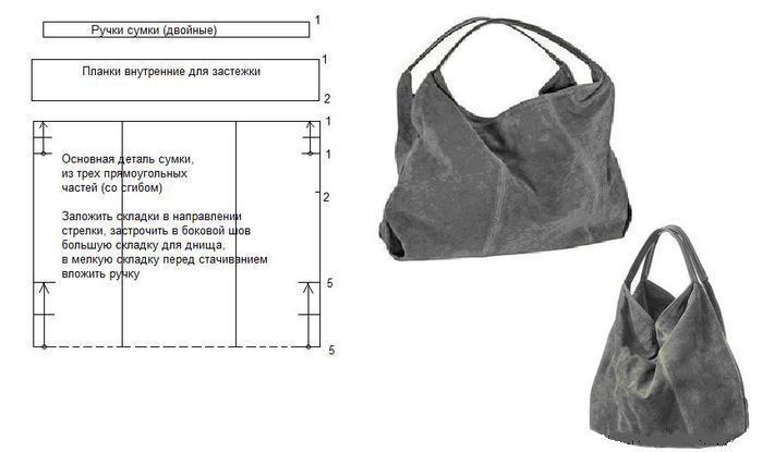 Выкройки больших сумок из кожи