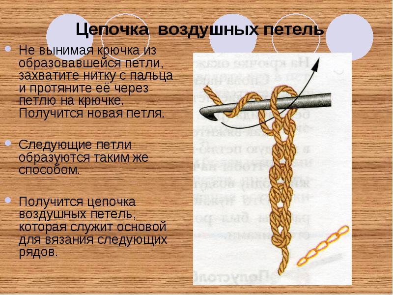 Вязания крючком как сделать воздушную петлю
