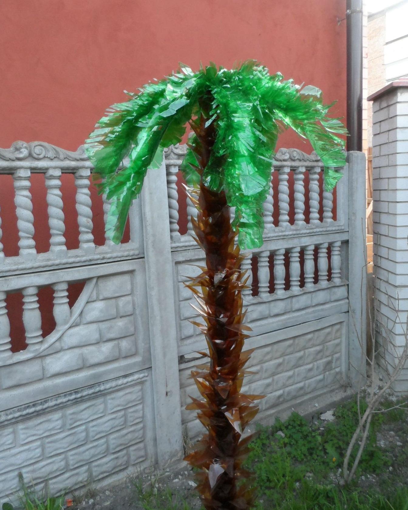 Поделки своими руками пальма из пластиковых бутылок