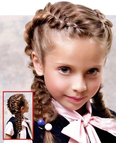 Плетение косичек на 1 сентября для девочек