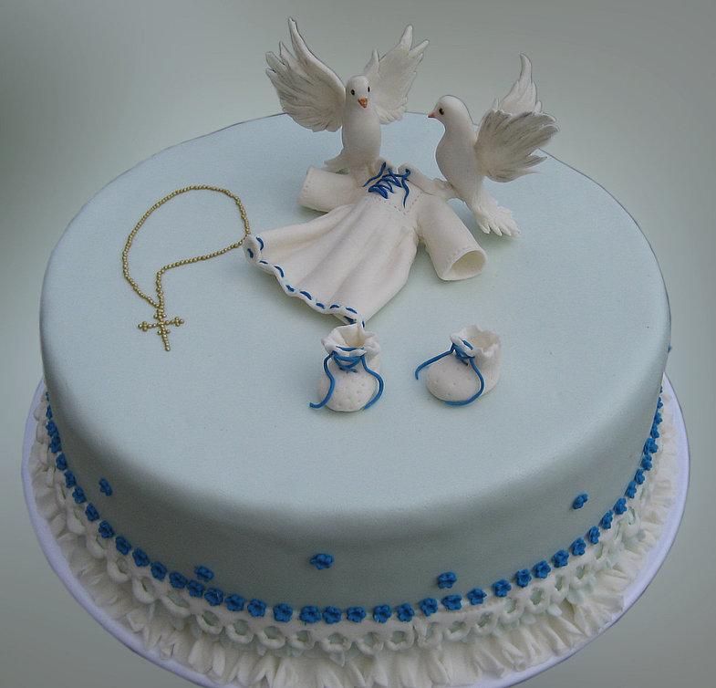 Торт на крестины мальчика своими руками из крема