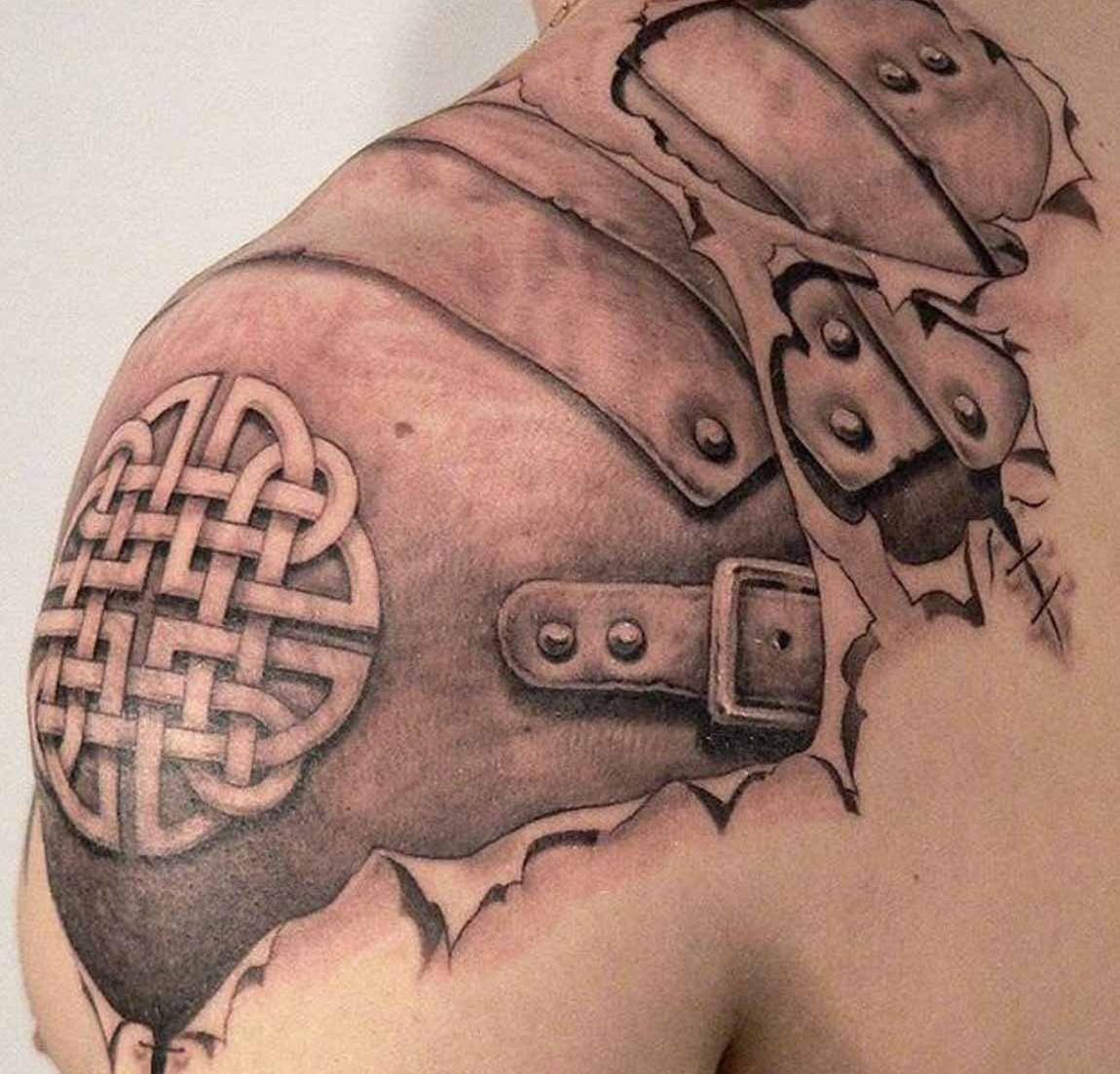 татуировки мужские на плече рисунок