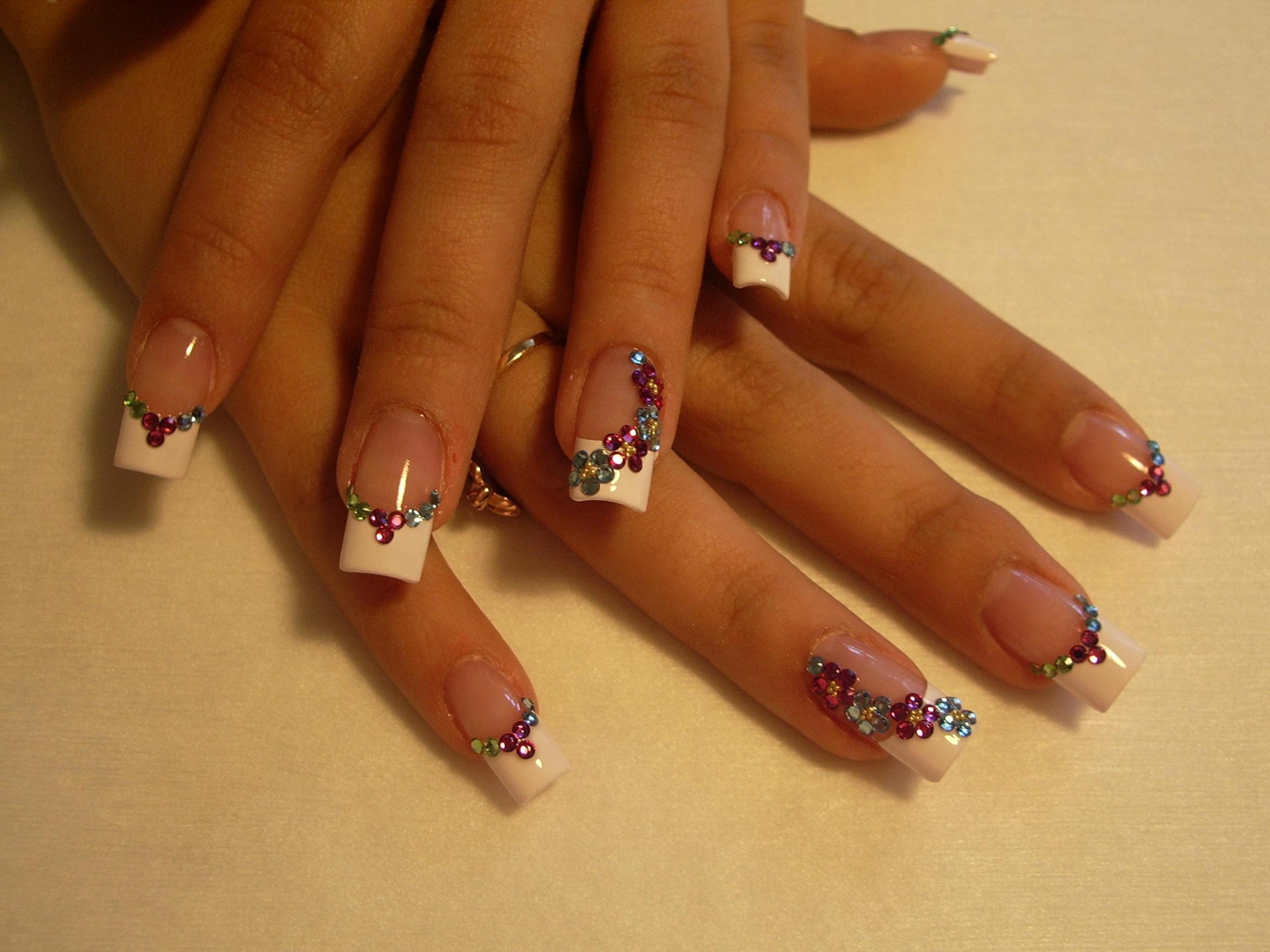 Красивый маникюр нарощенные ногти